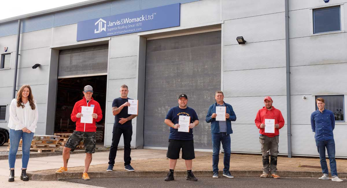 Jarvis​ and Womack operatives receive their RoofCERT accreditation certificates