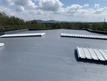 Cold Applied Liquid Waterproofing - Snowdonia Cheese - Weatherwell Roofing