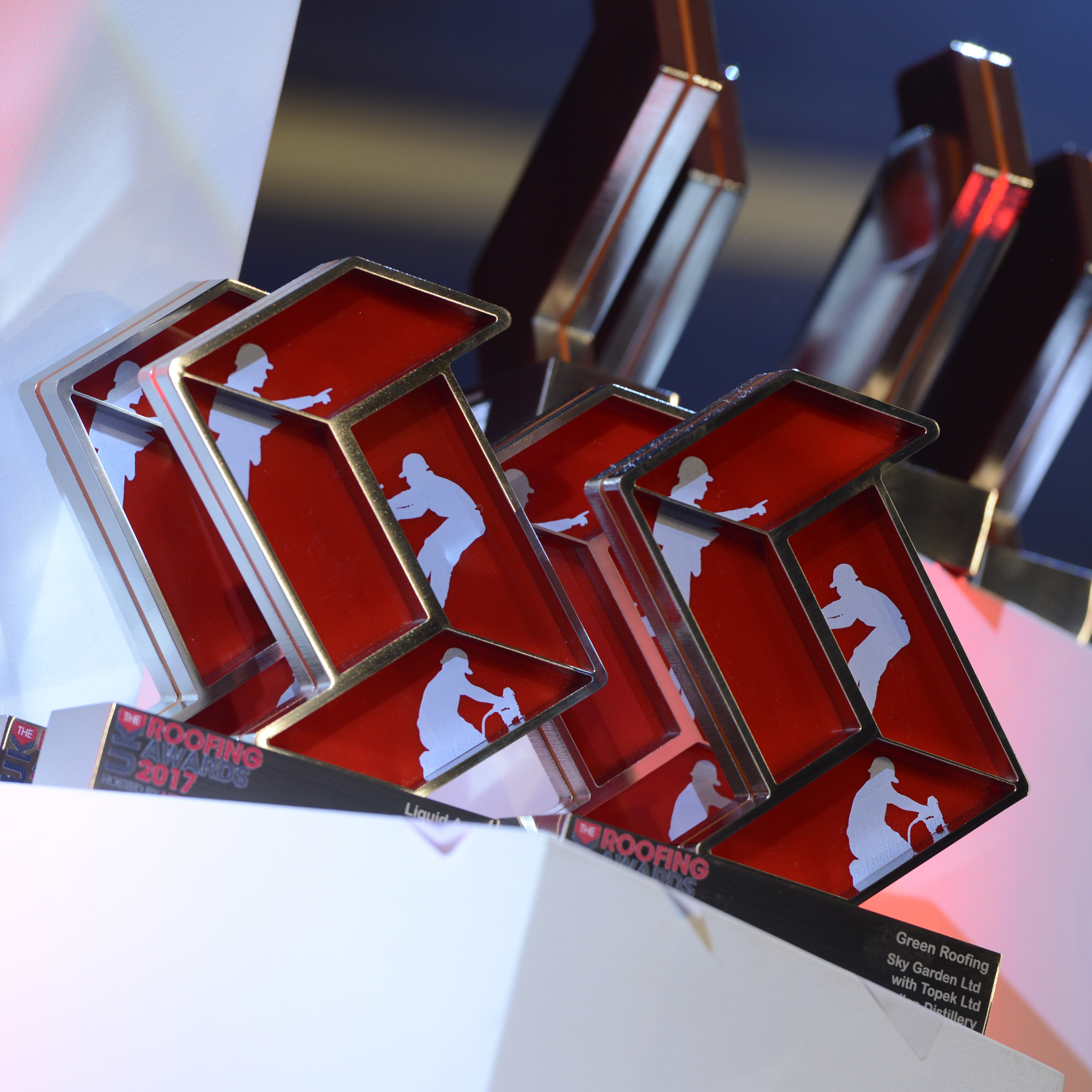 UK Roofing Awards Trophies