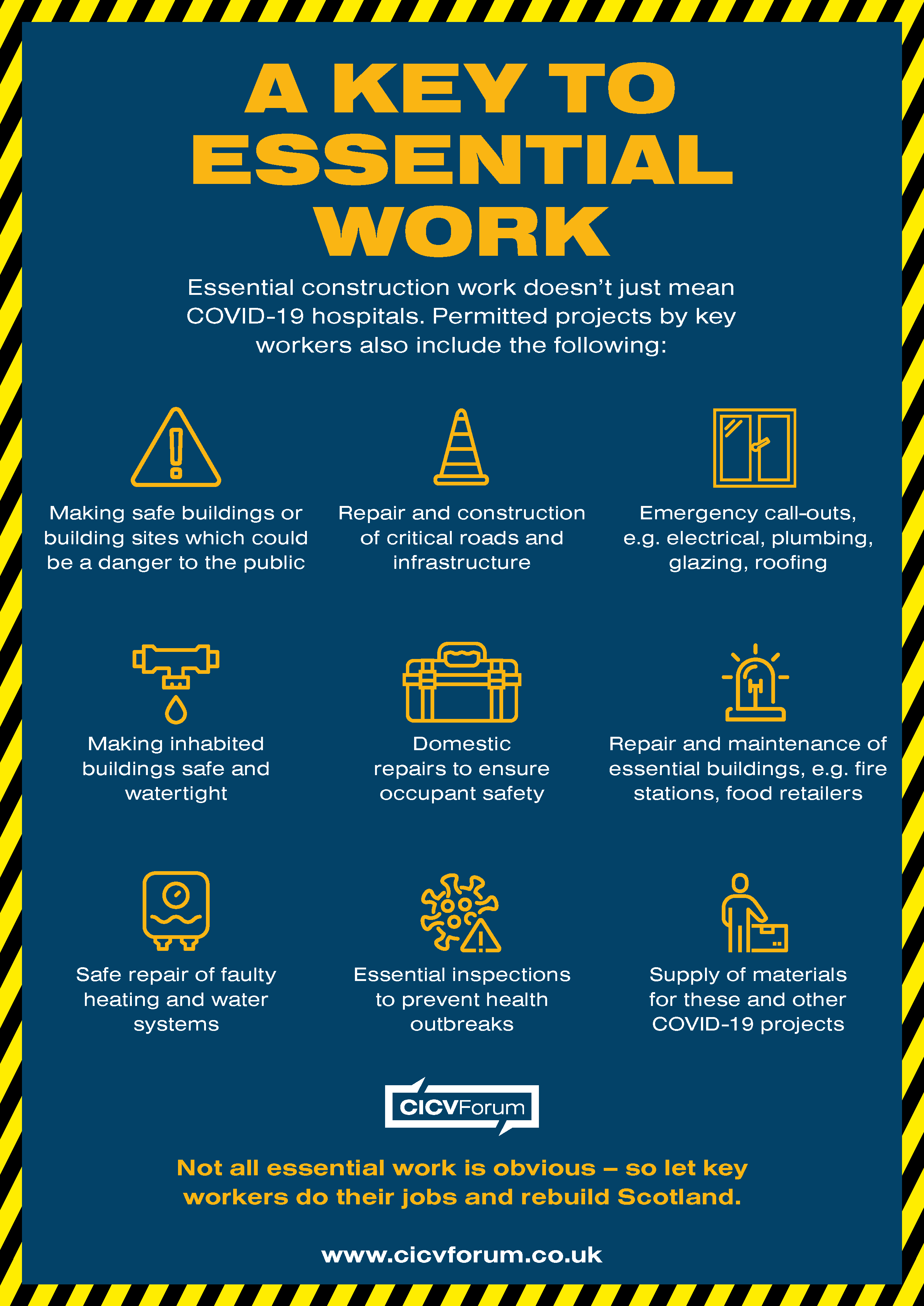 CICV Forum key worker infographic