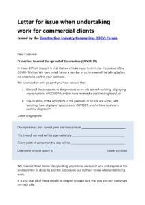 CICV Letter to commercial clients