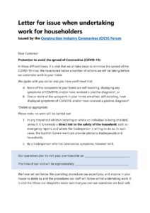 CICV Letter to households