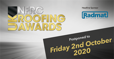 NFRC roofing awards postponed 2 Oct