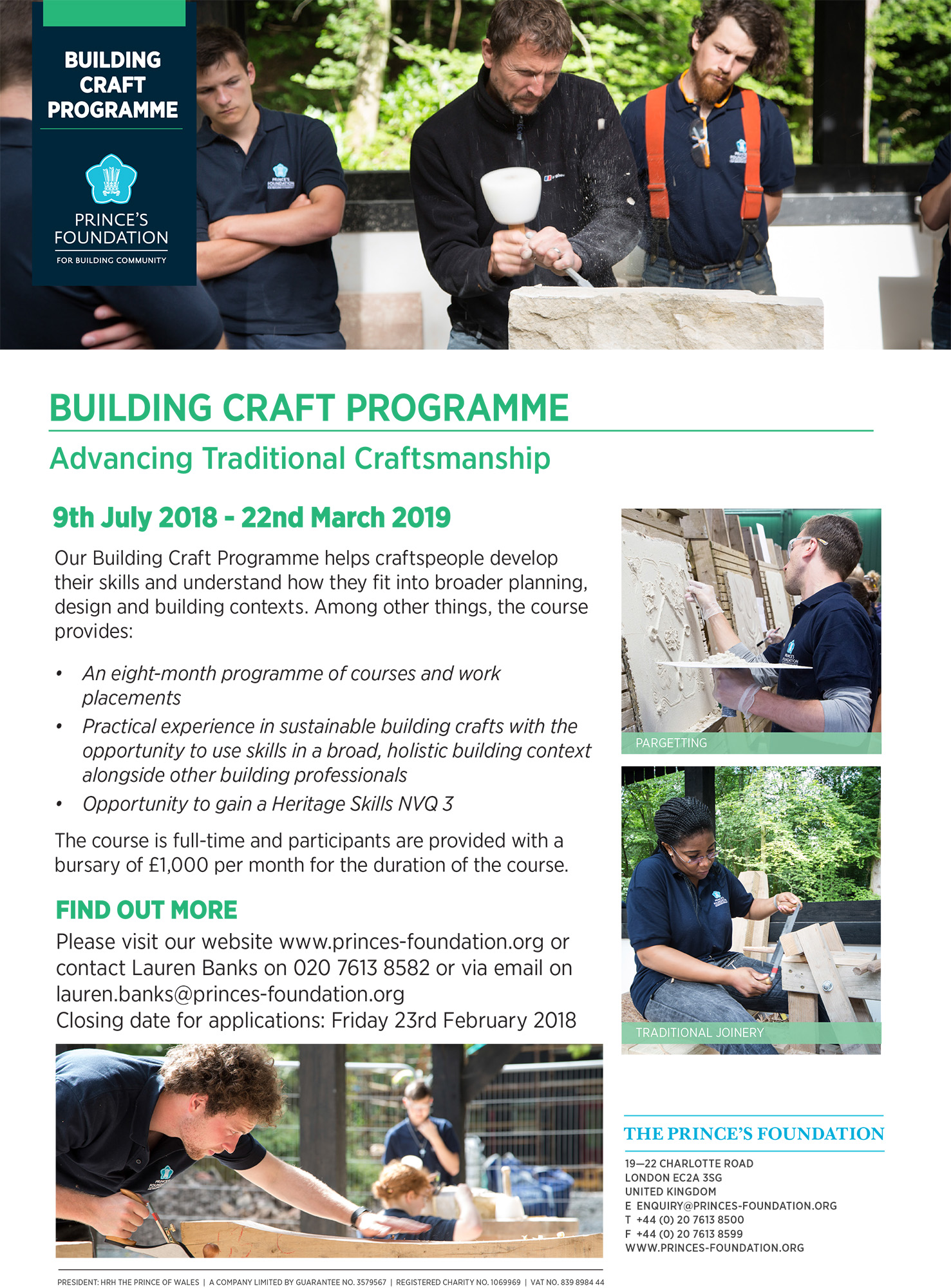 Building Craft Programme
