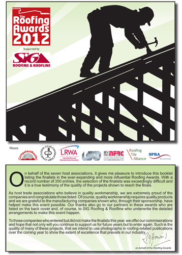 Roofing Awards 2012  Pre-Award Supplement